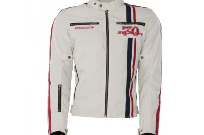 Jacket Segura Strike Beige Red Blue