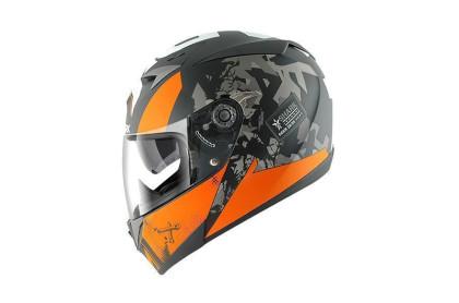 S700 PINLOCK TRAX Mat Black orange antraci